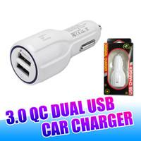carregador de carro 3.1 venda por atacado-Dual usb carregador de carro usb universal 3.1 um adaptador de carregamento levou para iphone x 8 7 samsung note8 s9 com embalagem de varejo