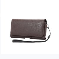 Wholesale grander blade resale online - For ZTE Blade Z Max Max XL Grand X Max Horizontal Waist Holster Bag With Card Slots Magnetic Pouch Litchi pattern Cover