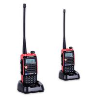 baofeng 8w toptan satış-2 ADET LED Işık 4800 mah Pil Bf-Uvb2 Baofeng Uvb2 Artı WalkieTalkie Cb Radyo Mobil Comunicador Yüksek Güç Baofeng 8 w b2