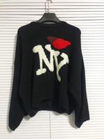 siyah örme hoodie toptan satış-2018 yeni Raf simonlar Boy Kazak hoodies Erkek Kadın Unisex Cep Örgü Gömlek Moda Siyah Uzun Kollu Ücretsiz Kargo 888