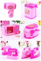 Wholesale oven design - Kitchens Pretend Play Toy Girl Single Mini Simulation Hair Dryer Microwave Oven Electric Multi Design Toys New Style 7 8qj6 Z