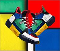 sapatas da rua da forma do verão dos homens venda por atacado-2018 verão sapatos de couro de alta moda tendências da europa e dos estados unidos rua maré sapatos personalidade marca maré hip-hop sapatos masculinos