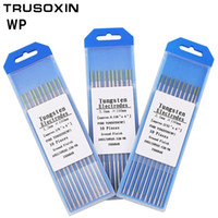 Wholesale electrode rods resale online - 10pcs Green Code MM Tungsten Electrode Tungsten Needle Rod for Welding Machine with TIG Function