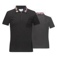 camiseta blanca de calidad al por mayor-Camisetas de algodón de verano de calidad superior bordado de serpiente de la camiseta calles de lujo negro blanco 16522