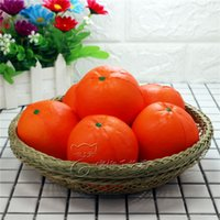 Wholesale Fruit Ornaments - Slow Rebound Toy Squishy Artificial Fruit Orange Venting Decompression Squeeze Pu Lovely Soft Ornament Squishies Toys 4 8xr W