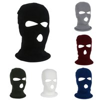 Wholesale army full face mask online - 1 Cycling Face Mask Warm Winter Windproof Warmer Face Protector Army Ski Hat Neck Full Cover Head Scarf For Riding