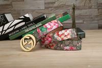 blumen kostenlose lieferung großhandel-Neue Produkte von 2018, europäischer Stil, hochwertige Mode, Blumengürtel, Luxusgürtel, kostenlose Lieferung!