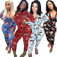 christmas butt cartoon pattern unicorn elk pajamas home living jumpsuit womens jumpsuits rompers sexy womens christmas long pants