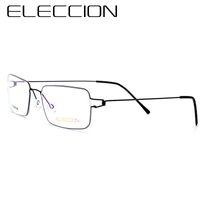 montura de gafas coreanas al por mayor-ELECCION Gafas sin tornillos Gafas graduadas Redondas Morten Gafas coreanas Montura Hombres Miopía Gafas ópticas Dinamarca Italia