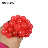 Wholesale muscles toys resale online - ZHENGPAI Yoga Ball Anti Stress Grape Ball Venting Squeeze Stresses Reliever Toy Funny Hand Grip Muscle Power Training Equipment