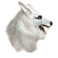 ingrosso divertenti maschere di gomma-Maschera da party Divertente maschera per animali Testa raccapricciante Costume di Halloween Teatro Novità Maschere Prop Latex Rubber
