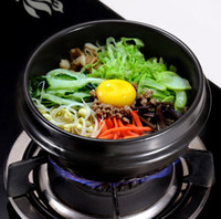 Wholesale Soup Sets - Classic Korean Cuisine Sets Dolsot Stone Bowl Pot for Bibimbap Ceramic Soup Ramen Bowls Earthenware Pot With Tray