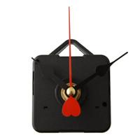 металлические украшения из сердца оптовых-2017 Replacement Clock Movement with Hook Metal Heart Hands DIY Living Bed Room Home Decoration Decor Gift
