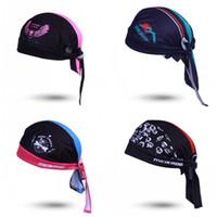 b kaskı toptan satış-Polyester Elyaf Kap Ter Uptake Toz Geçirmez Güneş Kremi Bisiklet Kask Örümcek Korsan Melek Kafatası Başkanı Desen Rahat Şapka 18cya B