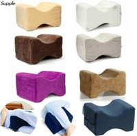 Wholesale foot bedding for sale - Group buy Memory Foam Knee Leg Pillow Bed Cushion Pain Relief Sleep Posture Support Knee Orthopedic Pillow Massage Foot Care Tool