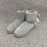 Wholesale borders australia - New Ugs Women Snow Boots Australia Style Waterproof Cow Suede Leather Winter Lady Outdoor Boots Brand Ivg Size US3