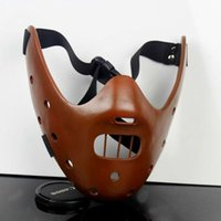 Wholesale Candy Films - Film Movie The Silence Of The Lambs Hannibal Lecter Resin Masks Masquerade Halloween Cosplay Dancing Party Props Half Face Mask