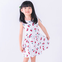 Wholesale hair colour bands resale online - baby girls dress summer toddler kids hair band floral print backless party princess dresses children clothes cotton girl costume