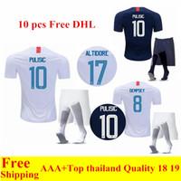 kits de futebol para homens venda por atacado-2018 Copa do mundo dos Estados Unidos em casa longe de futebol Camisas PULISIC 10 DEMPSEY BRADLEY 18 19 EUA Mens maillot de futebol pé Kits S-XL