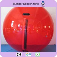 walking water balls Canada - Free Shipping 100% 0.8mm PVC Water Zorb Ball Water Polo Ball Inflatable Water Walking Ball 2M Diameter