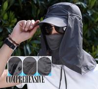 ingrosso maschere antigelo-Cappello da sole Copriscarpa da pesca Protezione solare da sole con collo rimovibile Copriscarpa da maschera Copricapo antivento Copricapo Sport esterno G801R