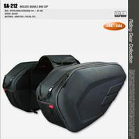 Wholesale Leather Carrier - komine SA212 motorcycle side bag helmet bags leather saddle bag racing motorcross tail bags luggage bag saddlebags motocross motorbike bags