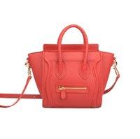 nylon messenger bag frauen großhandel-Ainifeel Frauen echtes Leder Lächeln Crossbody Tasche Schulter Handtaschen Messenger Bag Handtasche