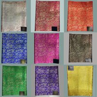 Wholesale Yellow Sego Gele - Gold African Headtie Head Gear Sego Gele Head Tie,Nigerian Sego Gele& Ipele wrapper 2pcs pack LXL-1