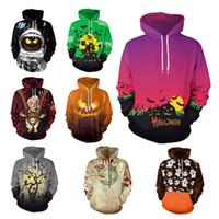 Wholesale long sleeve woman costumes for sale - Holloween Hoodies Ghost Pumpkin Head Print Men Women Hooded Pullover Hoodies Loose Casual Sweatshirts Costume Tops Sweater GGA1259
