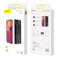 iphone ön arka cam toptan satış-Baseus ön cam + arka temperli cam iphone xr 9 h için temizle koruyucu cam ekran koruyucu için iphone xr xs max
