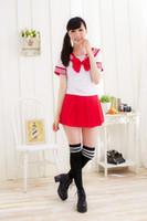 ciel cosplay féminin achat en gros de-cosplay rose COS Japon école académique étudiante uniformes japonais uniforme scolaire rose bleu ciel rouge marine bleu marine COS