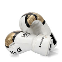 ingrosso guanti di pugilato in pelle-Adulti Donne Uomini Guantoni Da Boxe In Pelle MMA Muay Thai Boxe De Luva Mitts Sanda Equipments8 10 12 6 OZ Spedizione Gratuita