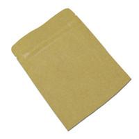 reißverschluss braune papiertüte großhandel-Wiederverschließbare zip lock braun kraftpapier aluminiumfolie reißverschluss taschen verpackungsbeutel für kaffeepulver snack paket verpackungsbeutel