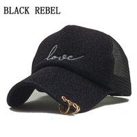 Negro Rebel Hip Hop negro estampado de leopardo gorras de béisbol curvadas  Summer Mesh Snapback sombreros para mujeres hombres Casquette Trucker Cap f4e623a5bf8