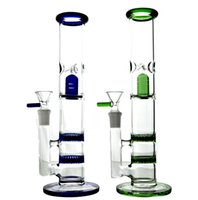 Wholesale honey comb oil filter for sale - Group buy Heady Tube Glass hookah Bongs layer Honeycomb Filter Water Pipe Ashcatcher Effect Glass Bong Honey Comb Perc Colorful Dab Rig Oil Rigs