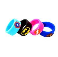 tfv4 mini zerstäuber großhandel-Vapesoon neueste dekorative schutz silikonkautschuk band vape ring für melo 3 tfv4 mini mod tank zerstäuber