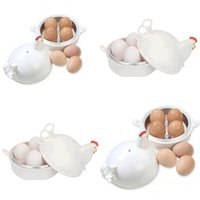 Wholesale portable cookers resale online - Eggs Boiled Tools Cooker Steaming Device Egg Steamer Lattice Chicken Shape Stainless Steel Microwave Oven Factory Direct cd V