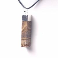 imagens de jasper stones venda por atacado-Imagem forma cubóide jasper pedra pingente de pedra natural pingente de jóias na moda para a mulher para o homem por atacado!