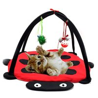 Wholesale tunnel tube online - Funny Pet Cat Tunnel Pet Supplies Play Tubes Balls Collapsible Crinkle Toys Ferrets Multi Function Beatles Shape Practical Nest bs jj