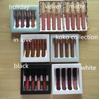 Wholesale koko collection lipstick resale online - 24 sets Holiday koko nude vacation Edition Kit set Matte Liquid Lipstick Gloss Lipsticks Matte Lipstick Collection styles
