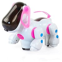 Wholesale pet robot toys for kids online - new Electric robot dogs electronic pet dog toy music shine pet Music Lights Walking Puppy Toys Christmas gift For Children Kids