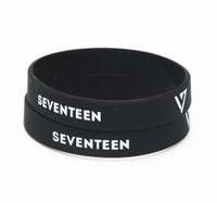звездный браслет оптовых-50PCS Popular Group Korea K-Pop Star Seventeen Silicone Bracelets&Bangles High Quality Idol Music Wristband Jerwerly Gifts SH179