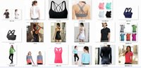 Wholesale tank top underwear women - 2018 brand Yoga T-shirts Tops Apparel Fitness Tanks Bra Sports coat Gym Breathable Women female sportswear jogging underwear Quick Dry