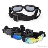 dog sunglasses оптовых-Зоотовары ослепить цвет солнцезащитные очки собака мода очки Antifogging зонт очки весело домашние животные уход декор высокое качество 15rs Ww
