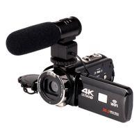 lityum video kameralar toptan satış-2018 WIFI 4 K Kamera 16X zoom 3.0 HD dokunmatik Ekran IR Kızılötesi Dijital Video Kamera Ile 24 Mega Piksel