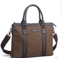 ingrosso sacchetto del messaggero delle tela di canapa degli uomini coreani-Messenger bag uomo borsa di tela coreana uomini borsa di tela
