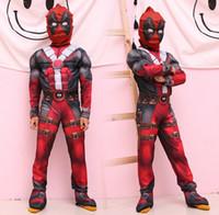pj cadeaux masques achat en gros de-Vêtements d'enfants définit les ensembles frais d'utilisation de cosplay d'enfants de muscle pour des costumes d'usage de festival de partie d'enfants