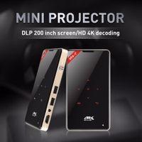 Wholesale mini hd screen phone online – Led Light Projector DLP inch Screen Amlogic S905X HD K Decoding G Android Portable Pocket HDMI G Wifi BT4 Smart Mini Beamer