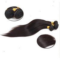 Wholesale discount hair weave extensions resale online - Products discount Brazilian Virgin Off Black Color Straight Hair Extension Human Hair Weave a Brazilian Remy Hair Weaving
