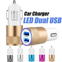 plug chargeur pour voiture achat en gros de-NOKOKO Marque Métal Double Port USB Chargeur De Voiture Adaptateur De Voyage Adaptateur De Voiture USB Micro Pour Samsung S7 S8 iPhone X 7 8